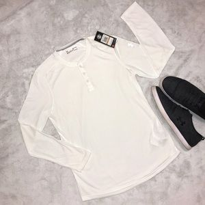BRAND NEW Under Armour White Long Sleeve Shirt